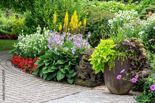 Foto op Canvas Tuin Summer Garden