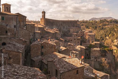 Fototapeta Beautiful medieval town in northern Tuscany, Sorano