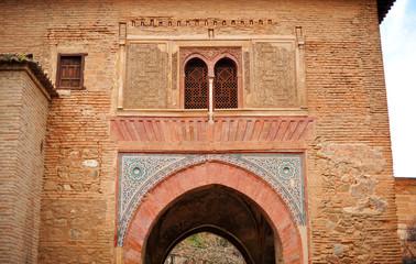 Puerta del vino. Alhambra de Granada, España