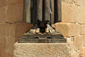 San Pedro de Alcántara, catedral de Cáceres, España