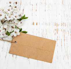 blossom with card