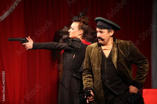 Leinwanddruck Bild Chehov, Russian theater, actor, director, actress, comedy