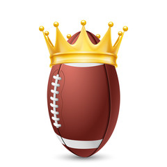 Golden crown on  ball rugby