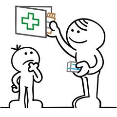 figur bewahrt medikamente kindersicher auf