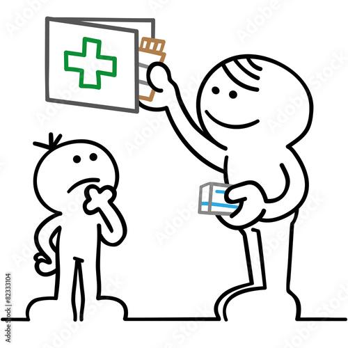 figur bewahrt medikamente kindersicher auf - 82333104