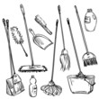 Mops. Set of cleaning tools - 82333728
