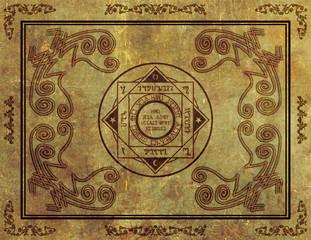 Magical Mystic Sigil Symbol Design on Parchment