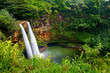 Majestic twin Wailua waterfalls on Kauai - 82335945