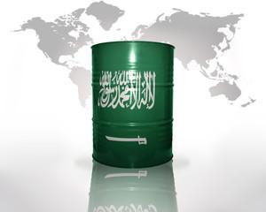 barrel with saudi arabia flag
