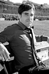 Portrait of handsome businessman looking