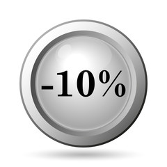 10 percent discount icon