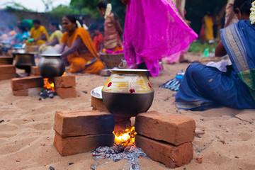 Inde, Cérémonie Pongal 0297 fête locale