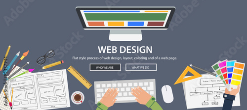 Flat style web design and development concepts - 82337944
