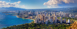 Spectacular view of Honolulu city, Oahu - 82338151