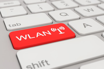 keyboard - WLAN - red