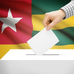 Ballot box with national flag on background - Togo
