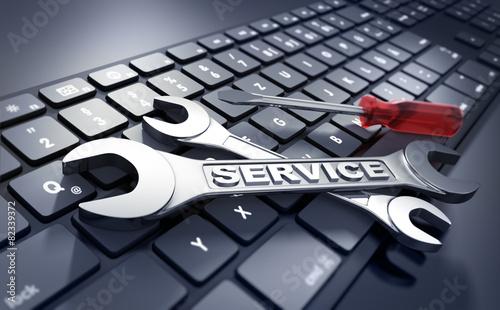 Leinwandbild Motiv IT-Service 2