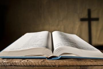 open bible, shallow depth of field