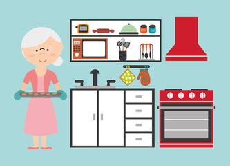 grandmother cooking