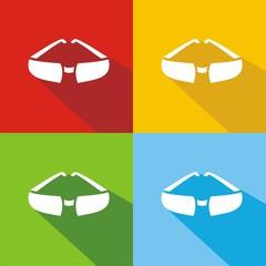 Iconos gafas de sol colores sombra
