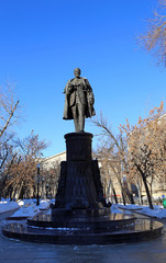 Monument to engineer Vladimir Shukhov in Moscow