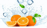 Oranges with Water splashes