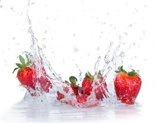 Fresh Strawberries with water splash © Lukas Gojda