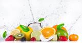 Fruit with water splash - 82344553