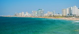 Views of Mediterranean sea and promenade of Tel Aviv