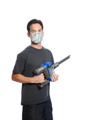 Vacuum dust, no problem with dust mask