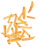 French fries in freeze motion - Fine Art prints