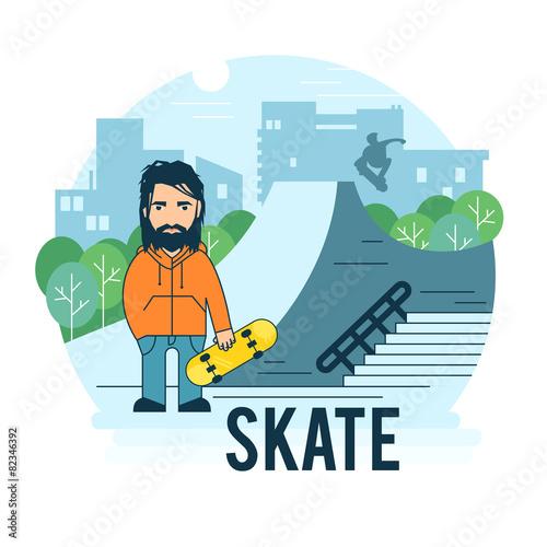 Skate park. - 82346392