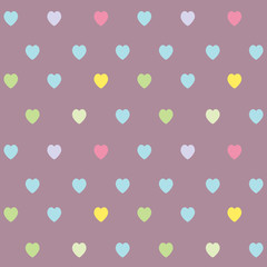 Cute heart seamless pattern