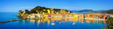 Sestri Levante, silence bay sea and beach panorama. Liguria, Ita - 82348147