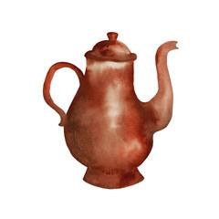 Teapot Coffee pot. Vector
