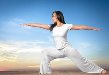 Practising. Activities: Yoga 2