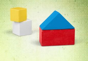 Close-up. Building blocks