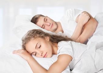 Sleeping. Sleeping peacefully