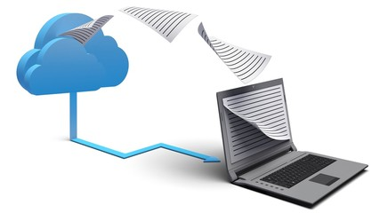 Cloud. 3D. Cloud computing