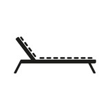 Fototapety The lounger icon. Sunbed symbol. Flat