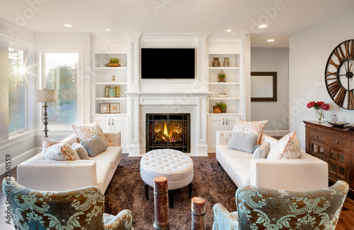 Den/ and Reading Room in Luxury Home