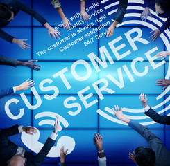 Customer Service Support Assistance Call Centre Agent Concept