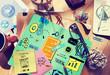 Zdjęcia na płótnie, fototapety, obrazy : Knowledge Training E-Learning Skills Start Up Launch Concept