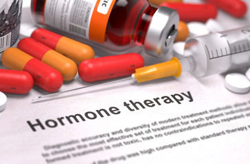 Hormone Therapy - Medical Concept.