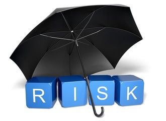 Risk. 3D. Risk blocks - Umbrella