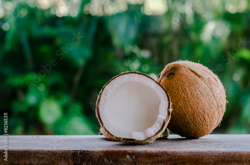 Foto op Canvas Palm boom Coconuts