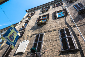 House in the old town from below, Turin