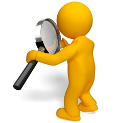 Magnifying Glass. 3D. Searching