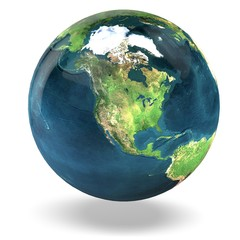 Earth. 3D. Earth Model: USA View Elements of this image