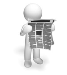 Newspaper. 3D. Newspaper